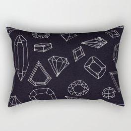 doodle crystals Rectangular Pillow