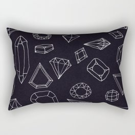 doodle crystals Rectangular Pillow
