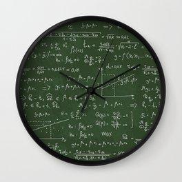 Geek math or economic pattern Wall Clock