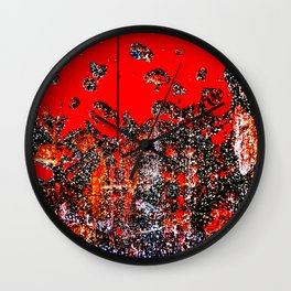 Red Door Rusting Black Wall Clock