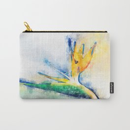 Bird Of Paradise Watercolor Art Carry-All Pouch