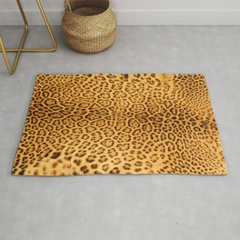 Brown Beige Leopard Animal Print Rug