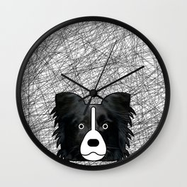 Border Collie Fur  Wall Clock