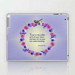 Trust in the Lord Flower Ring Laptop & iPad Skin