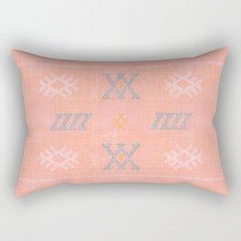 Morocco Kilim in Peach Rectangular Pillow