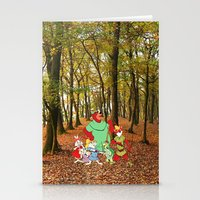 robin hood Stationery Cards featuring Robin Hood and the Gang by foreverwars