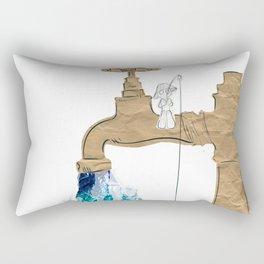 Paper Faucet Rectangular Pillow