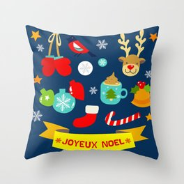 Joyeux Noel Throw Pillow