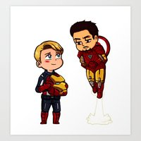 young avengers Art Prints featuring Avengers by Suppie