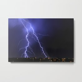 Salt Lake Lightning Metal Print