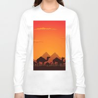 camel Long Sleeve T-shirts featuring Camel by aleksander1