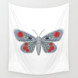 spider web and rose (made up moth) Wall Tapestry