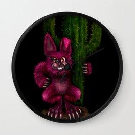 Desert Bunny Wall Clock