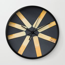 Clarinet reeds in a circle Wall Clock