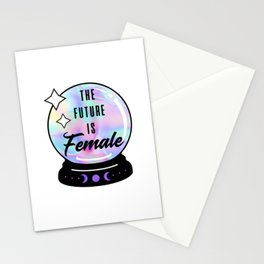 The Future is Female Crystal Ball Stationery Cards