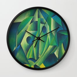 Cubist Abstract Of Village Woman Wearing A Headscarf Wall Clock