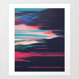 Color glitch Art Print
