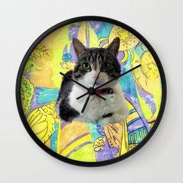 Zoe In Feline Seafare Delight Wall Clock