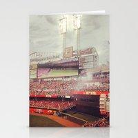cincinnati Stationery Cards featuring Cincinnati Reds by  Rikki