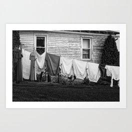 Amish Laundry Art Print