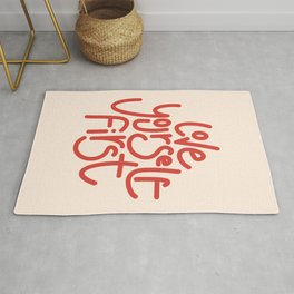 Love Yourself First - Red Rug