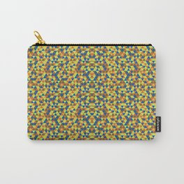 BLUE AND YELLOW MINI RECTANGLES  Carry-All Pouch