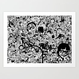 Caras II Art Print