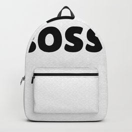 Boss Lady in Black Backpack