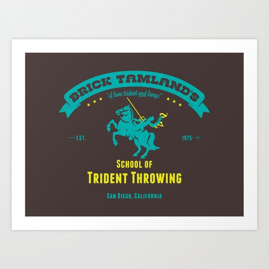 School of Trident Throwing Art Print