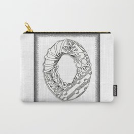Zentangle O Monogram Alphabet Illustration Carry-All Pouch