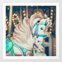 Blue Carousel Horse by andreka