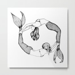 Underwater Dance Metal Print
