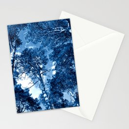 CLASSIC BLUE WHISPERING FOREST Stationery Cards