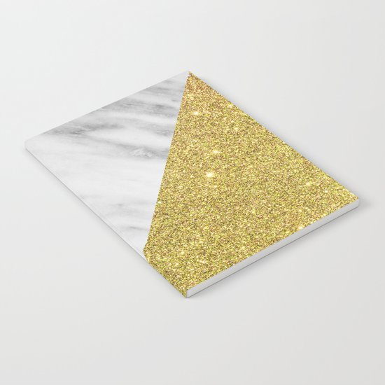 Marble & Gold Geometry Notebook