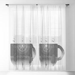 Midnight Coffee Sheer Curtain