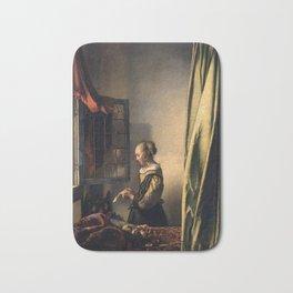 """Johannes Vermeer """"Girl Reading a Letter at an Open Window"""" Bath Mat"""