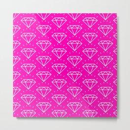 DIAMOND ((hot pink)) Metal Print