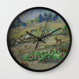 The Dog Days of Summer Wall Clock