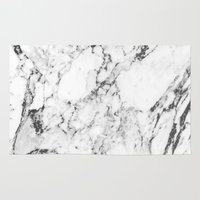 white marble Area & Throw Rugs featuring Marble by MatiasMilton