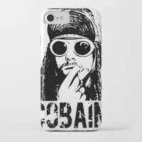 kurt cobain iPhone & iPod Cases featuring Vector Cobain by Emma Porter