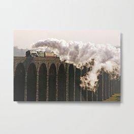 60163 Tornado Steaming over Ribblehead Viaduct Metal Print