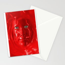 Red liquid Stationery Cards