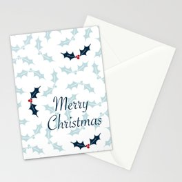 Cool Holly Pattern Stationery Cards