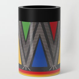 Mexican Geometric Pattern Can Cooler