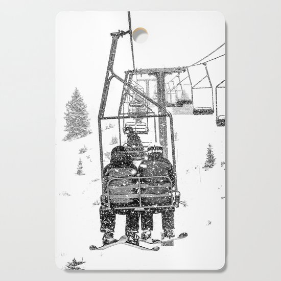 Snow Lift // Ski Chair Lift Colorado Mountains Black and White Snowboarding Vibes Photography by byrdonwheels