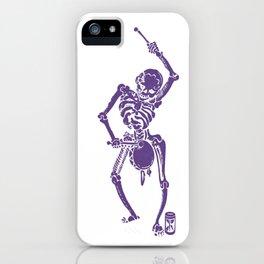 Purple Faust Skeleton II iPhone Case