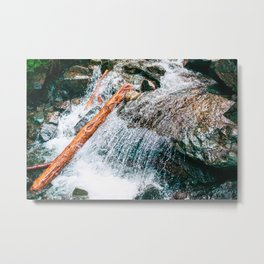 Creek bed in Squamish, Canada Metal Print