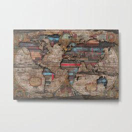 Distress World Metal Print