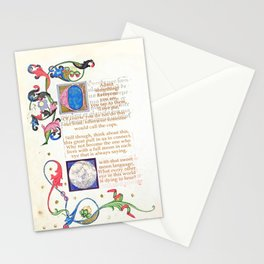With that sweet moon language Stationery Cards