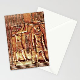 Egyptian Thoth Horus Hieroglyph Pyramid Stationery Cards